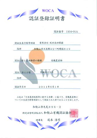 認証登録証明書A